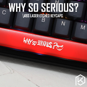 Novelty Shine Through Keycaps ABS Etched Shine-Through r4 r1 esc enter spacebar joker why so serious batman red black
