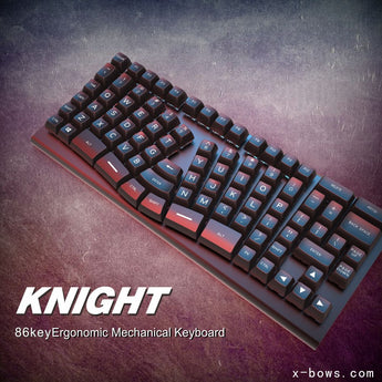xbows Knight Mechanical keyboard pcb ergonomic optical switch rgb leds type c