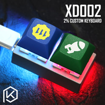 xd002 xiudi 2% Custom Mechanical Keyboard 2 keys Underglow and switch RGB PCB programmed hot-swappable macro key aluminum case