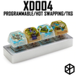 xd004 xiudi 4% Custom Mechanical Keyboard programmable hot-swappable PCB
