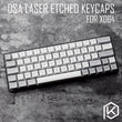 dsa pbt top Printed legends light grey grey Keycaps Laser Etched gh60 poker2 xd64 60% rk61 - KPrepublic