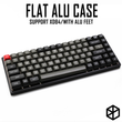 Anodized Aluminium flat case with metal feet for custom mechanical keyboard black siver grey colorway for xd84 75%