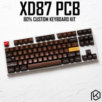 XD87 XD80 Custom Mechanical Keyboard Kit 80% Supports TKG-TOOLS Support Underglow RGB PCB programmed gh80 kle