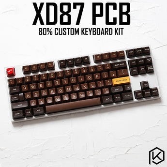 XD87  Custom Mechanical Keyboard Kit 80% Supports TKG-TOOLS  Underglow RGB