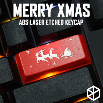 Novelty Shine Through keyboard keycap ABS Shine-Through merry christmas tree xmas Santa Claus black red enter r4 r1 esc