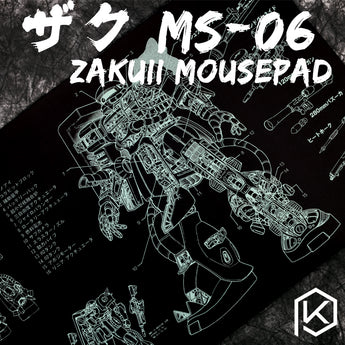 Mechanical keyboard Mousepad zaku II ms-06 900 400 4 mm non Stitched Edges Soft/Rubber High quality