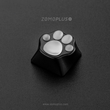 zomo Aluminum & Silicone Kitty Paw back lit Artisan Keycap cat pad CNC anodized aluminum body Compatible with Cherry MX switches