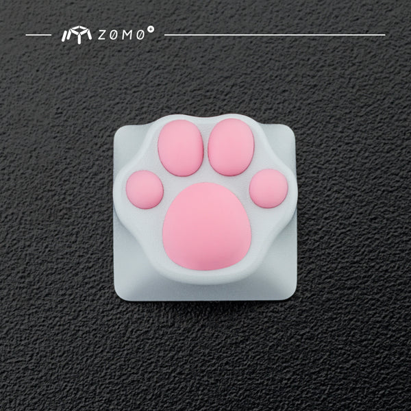 zomo Aluminum & Silicone Kitty Paw Artisan Keycap cat pad CNC anodized aluminum body Compatible with Cherry MX switches
