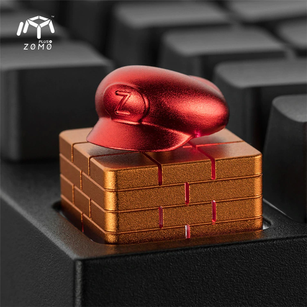zomo super mario bro hat m Artisan Keycap CNC anodized aluminum Compatible Cherry MX switches