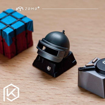zomo pubg BATTLEGROUNDS 3 level helmet pan airdrop bomb Artisan Keycap CNC anodized aluminum Compatible Cherry MX switches