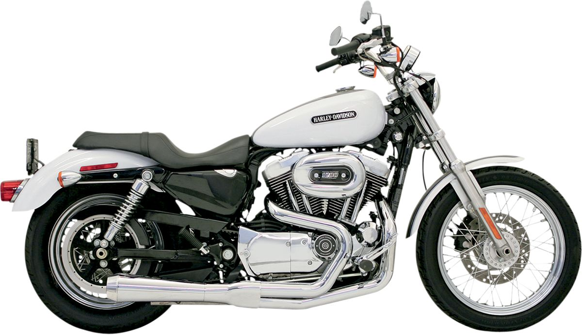 Chrome Short Road Rage 2 into 1 System for Sportster '86-2003 - 14212J