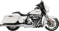 "Chrome Road Rage 2into1 System w/4"" Megaphone Muffler for 2017-2020 Bagger"