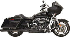 "Black Road Rage 2into1 System w/4"" Megaphone Muffler for 2017-2020 Bagger"