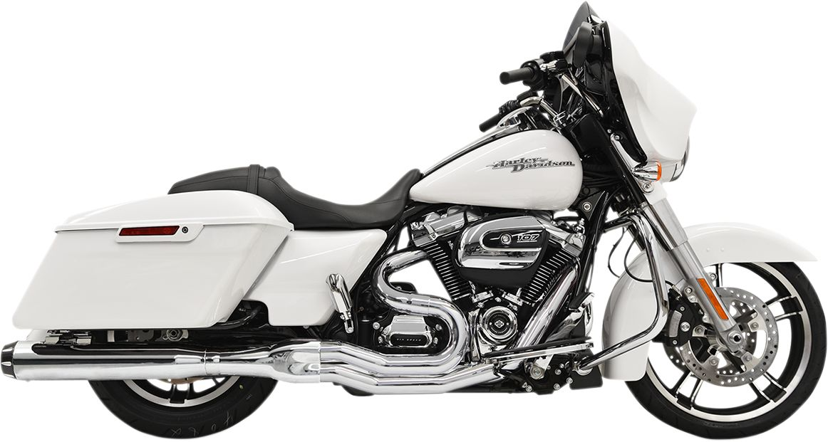 "Chrome Road Rage 2into1 System w/4"" Straight Muffler for 2017-2020 Bagger"
