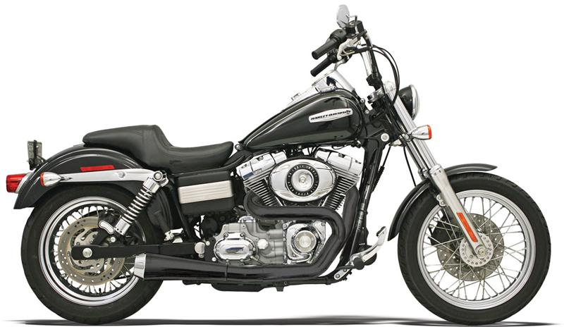 Road Rage -Black 2 into 1 collector system for Dyna '91 - 2017 - 1D5250B