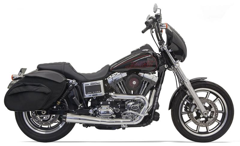 Road Rage -chrome 2 into 1 collector system for '91 - 2017 Dyna - 1D5250