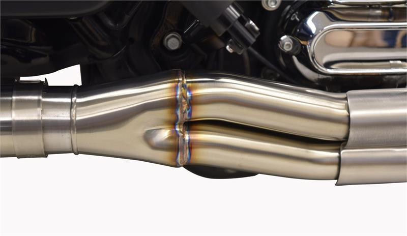"Road Rage 3 Stainless for Bagger with 4"" Straight Can Muffler"
