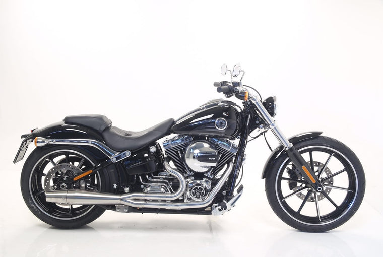 Full 2 into 1 exhaust system for Harley Softail