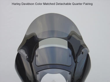 Lip for Harley Davidson Color-Matched Quarter Fairing