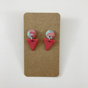 Pink Clay Dangle Earrings