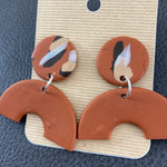Handmade Clay Dangle Earrings