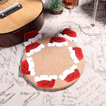 10 Pieces Christmas Santa Hat Wine Glass Decoration Christmas Accessories Loom Rack