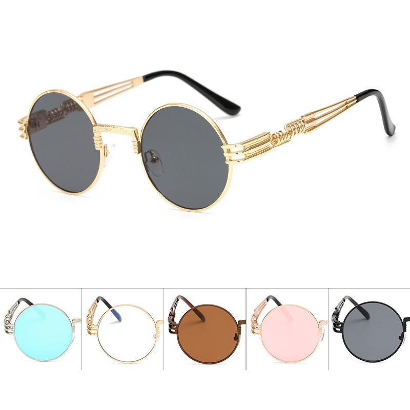 2 Chainz Vintage Sunglasses - Steampunk Round Shades Sunglasses AM 1901 C1