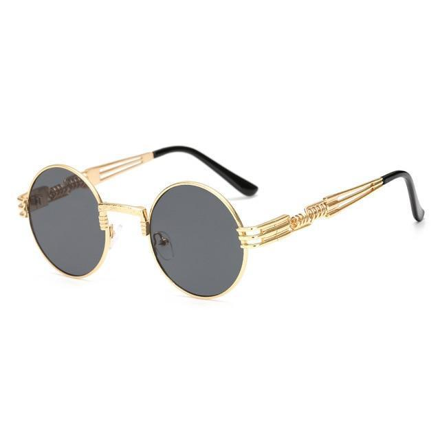 2 Chainz Vintage Sunglasses - Steampunk Round Shades Sunglasses Loom Rack