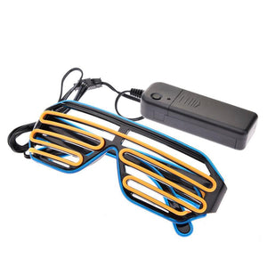 2-Color Flashing LED Party Glasses Sunglasses Loom Rack