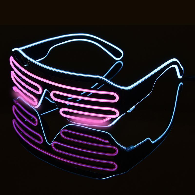 2-Color Flashing LED Party Glasses Sunglasses Loom Rack C