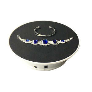 360 Degree Electric Rotating Turntable Photography Black with EU plug