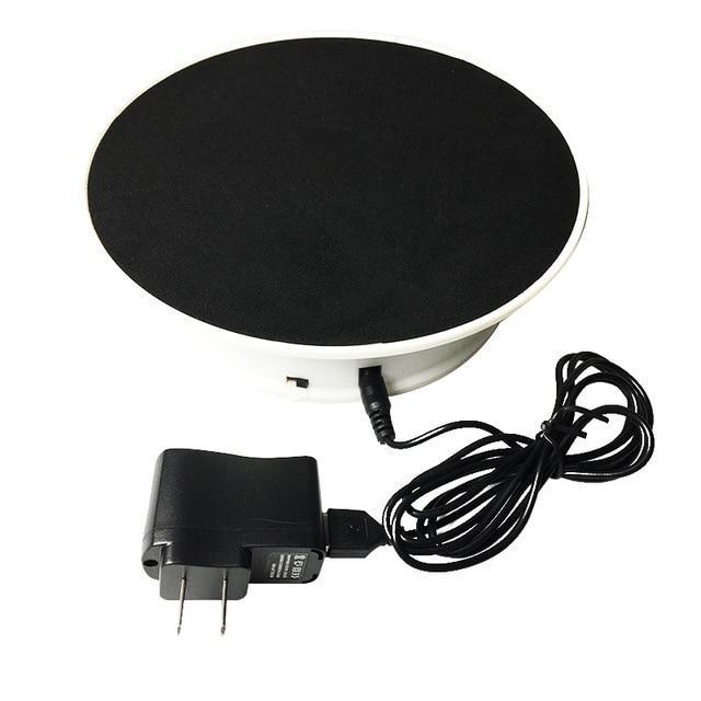360 Degree Electric Rotating Turntable Photography Black with US plug