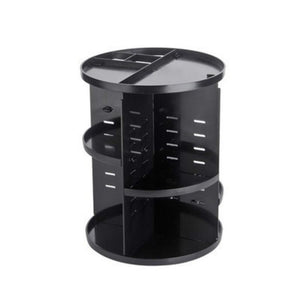 360 Rotating Makeup Organizer Makeup Accessories Loom Rack Black