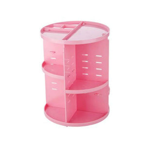 360 Rotating Makeup Organizer Makeup Accessories Loom Rack Pink