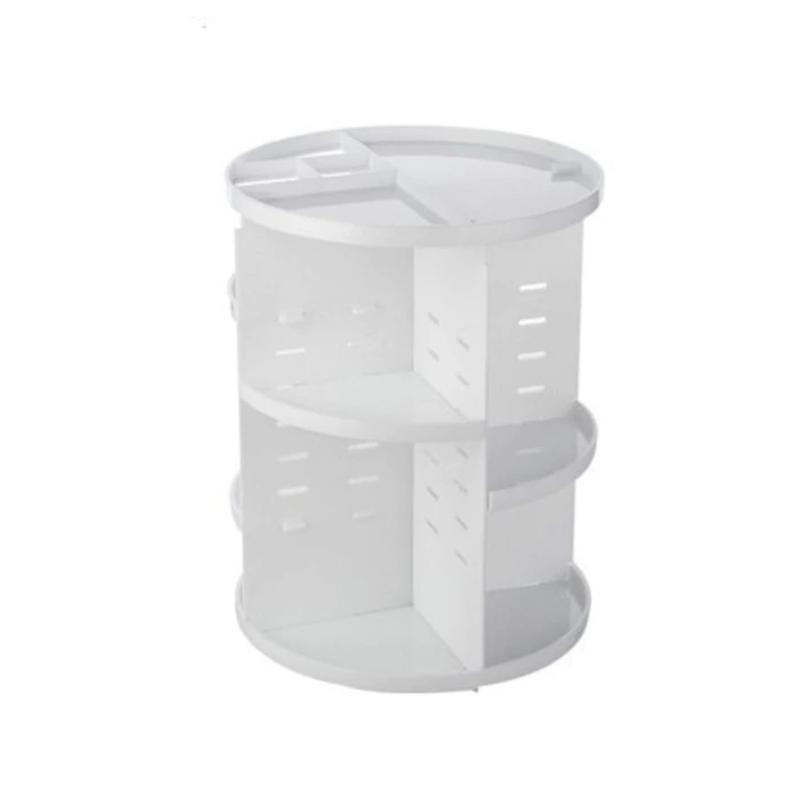 360 Rotating Makeup Organizer Makeup Accessories Loom Rack White
