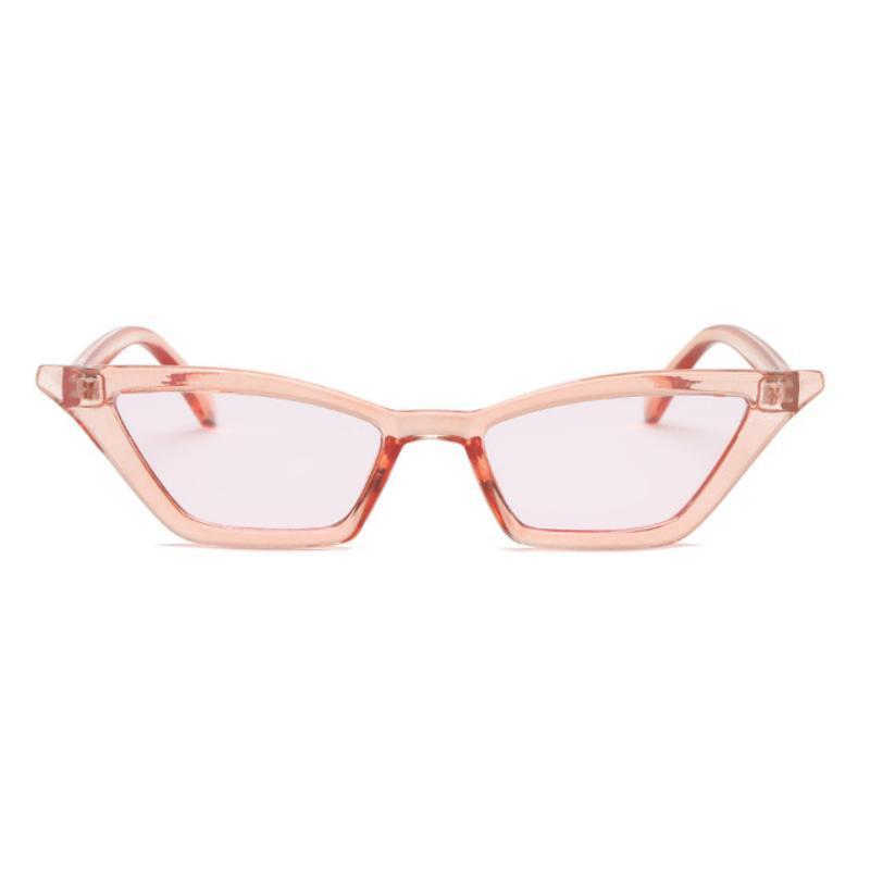 90s Retro Cat Eye Sunglasses Sunglasses Loom Rack clear pink