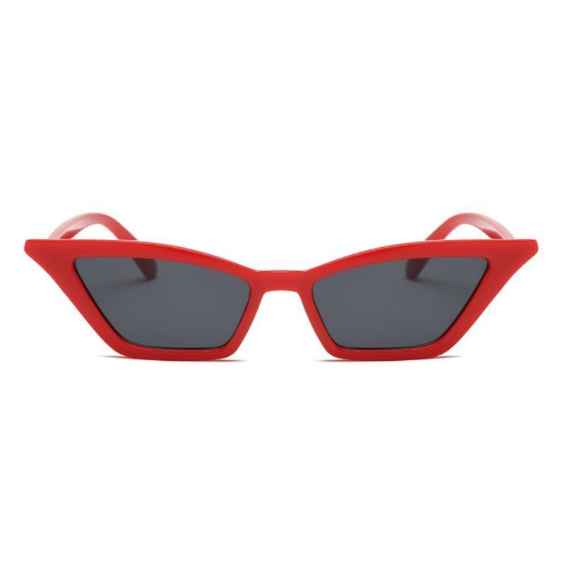 90s Retro Cat Eye Sunglasses Sunglasses Loom Rack red frame black