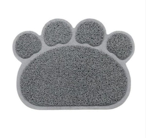 Animal Paw Feeding Placemat Mats & Pads Loom Rack Gray
