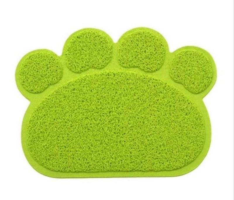 Animal Paw Feeding Placemat Mats & Pads Loom Rack Green