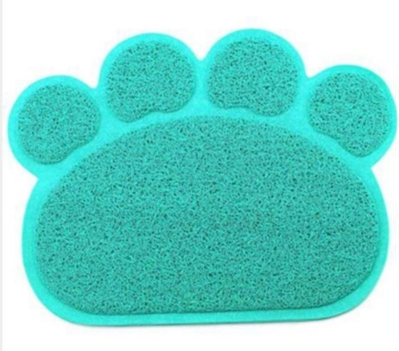 Animal Paw Feeding Placemat Mats & Pads Loom Rack Light Blue