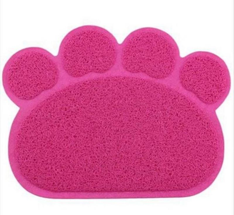 Animal Paw Feeding Placemat Mats & Pads Loom Rack Rose Red