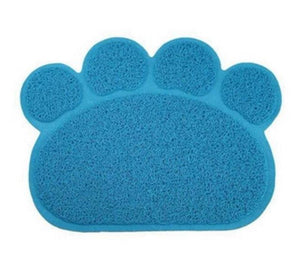 Animal Paw Feeding Placemat Mats & Pads Loom Rack Sky Blue