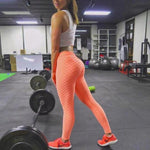 Anti Cellulite Leggings Leggings Loom Rack Orange S