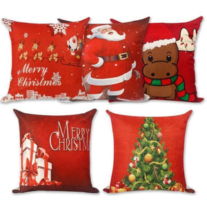 Assorted Christmas Cushion Covers - LED, Animal Print & Traditional Christmas Accessories Loom Rack