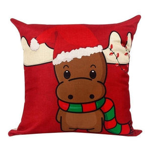 Assorted Christmas Cushion Covers - LED, Animal Print & Traditional Christmas Accessories Loom Rack Cute Calves