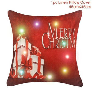 Assorted Christmas Cushion Covers - LED, Animal Print & Traditional Christmas Accessories Loom Rack LED Red Gift