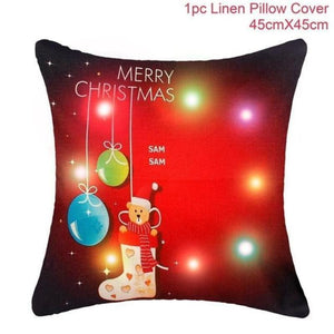 Assorted Christmas Cushion Covers - LED, Animal Print & Traditional Christmas Accessories Loom Rack LED Red Sock