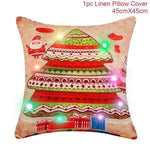Assorted Christmas Cushion Covers - LED, Animal Print & Traditional Christmas Accessories Loom Rack LED Red White Tree