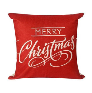 Assorted Christmas Cushion Covers - LED, Animal Print & Traditional Christmas Accessories Loom Rack Red Christmas