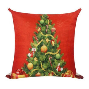 Assorted Christmas Cushion Covers - LED, Animal Print & Traditional Christmas Accessories Loom Rack Red christmas tree